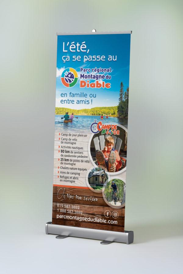 Bannière rétractable (Rollup) – Parc régional de la Montagne du Diable