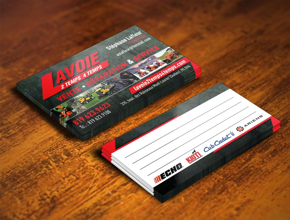 Cartes d'affaire – Lavoie 2 temps 4 temps